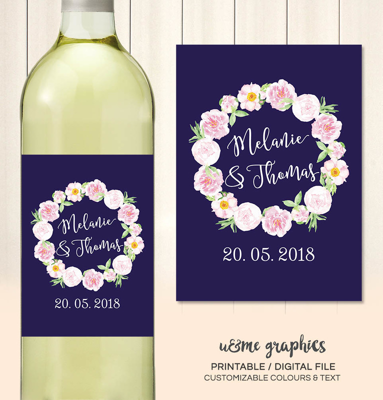 Wedding Wine Labels Cape Town South Africa - U&Me Graphics Shop ...