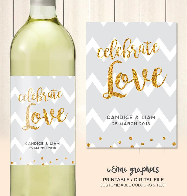 Wedding Wine Labels Cape Town South Africa - U&Me Graphics Shop ...
